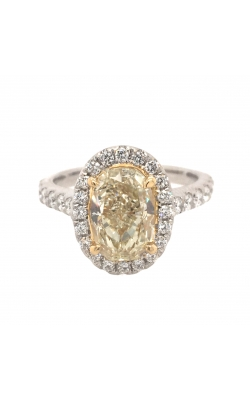 18k White And Yellow Gold Yellow Diamond With Halo And Side Diamonds G11165 product image