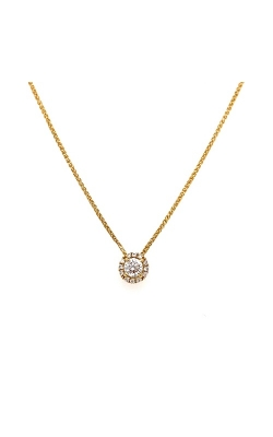 18k Yellow Gold Halo Necklace G11330 product image