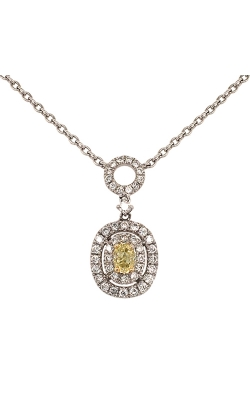 14k White And Yellow Gold Necklace With Yellow Diamond G11446 product image