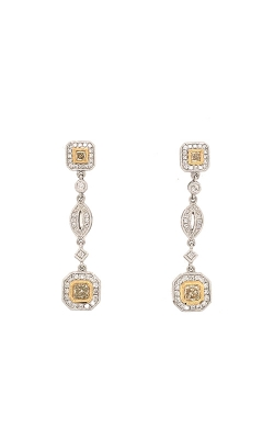 18k White And Yellow Gold Diamond Drop Earrings G11447 product image