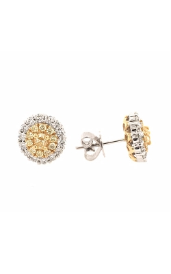 18k White And Yellow Gold Diamond Stud Earrings G11449 product image