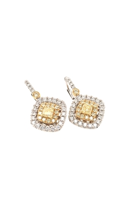 18k White And Yellow Gold Diamond Drop Earrings G11450 product image