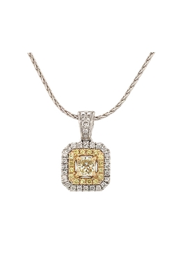 14k White And Yellow Gold Pendant With Yellow Diamonds G11451 product image