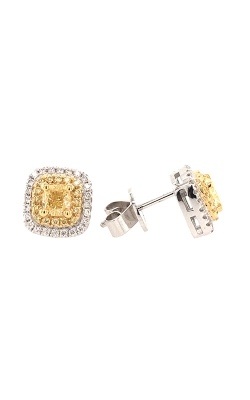18k White And Yellow Gold Diamond Stud Earrings G11453 product image