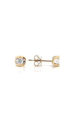14k Yellow Gold Tension-Set Stud Earrings G12399 product image