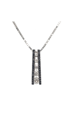 18k White Gold Pendant With White And Black Diamonds G3331 product image