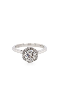 18k White Gold Halo Engagement Ring G6699 product image