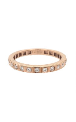 18k Rose Gold Modern Wedding Band G6713 product image