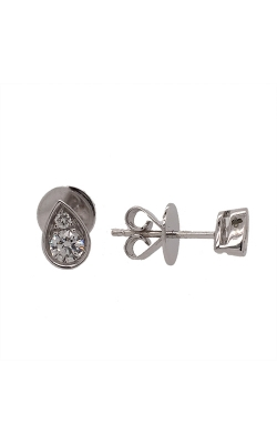14k White Gold Diamond Stud Earrings G6888 product image