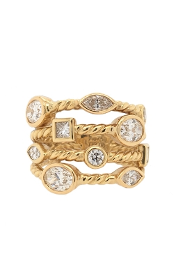 18k Yellow Gold Multi-Shaped Diamonds Band G12115 product image