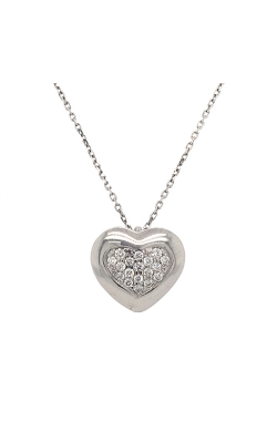 18k White Gold Heart Diamonds Necklace G8819 product image