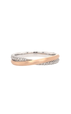18k White And Rose Gold Entwined Diamonds Band G9143 product image