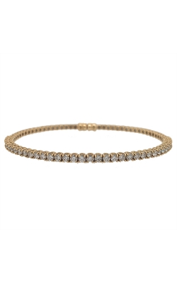 18k Yellow Gold Diamonds Flexible Bangle G9328 product image