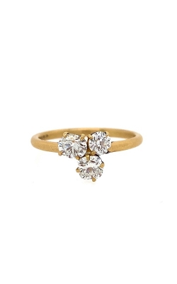 18k Yellow Gold Three-Stone Ring G9338 product image