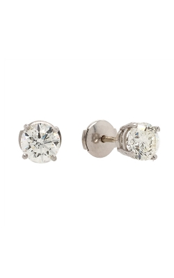 14k White Gold Diamond Stud Earrings G9521 product image
