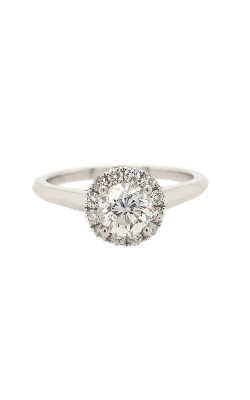 18k White Gold Diamond Engagement Ring With Halo G9555 product image