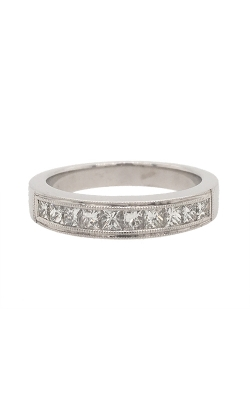 18k White Gold Princess Cut Diamonds Band G9556 product image