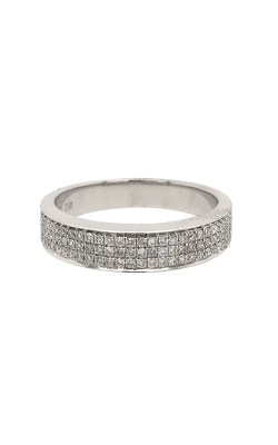 18k White Gold Pave Diamonds Band G9557 product image