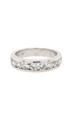 18k White Gold Channel Set Diamonds Band G9558 product image