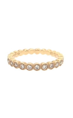 18k Yellow Gold Diamond Band With Milgrain G9559 product image