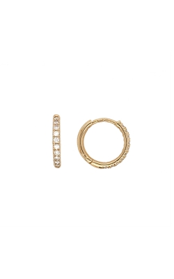 14k Yellow Gold Diamond Hoop Earrings G9702 product image