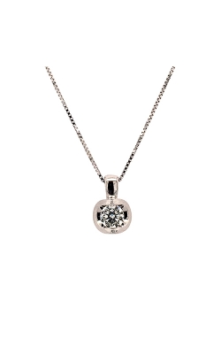 14k White Gold Solitaire Diamond Necklace C10562 product image