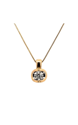 14k Yellow Gold Solitaire Diamond Necklace C10563 product image