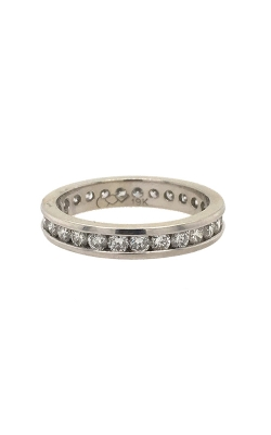 19k White Gold Channel-Set Eternity Band C2274 product image