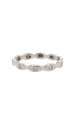 18k White Gold Diamond Band C2387 product image