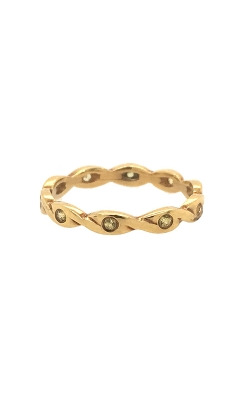 18k Yellow Gold Band With Canary Diamonds C2388 product image