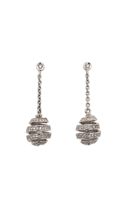 14k White Gold Spiral Drop Earrings C2960 product image