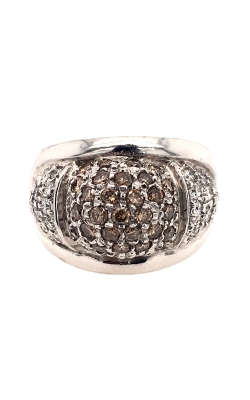 14k White Gold Ring With Pavé Diamonds G12028 product image