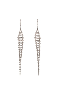 18k White Gold Diamond Chandelier Earrings C4340 product image