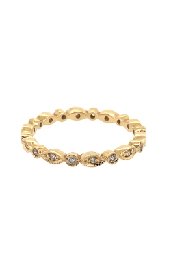 18k Yellow Gold Diamonds Band With Milgrain Pattern C4769 product image