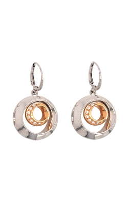 18k White And Rose Gold Dangle Earrings C5685 product image