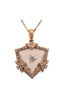 18k Rose Gold & Crystal Pendant C5778 product image