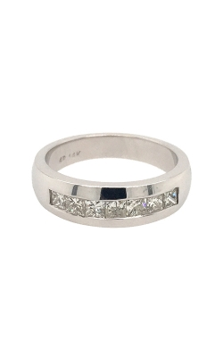 14k White Gold Princess-Cut Diamonds Band G12026 product image