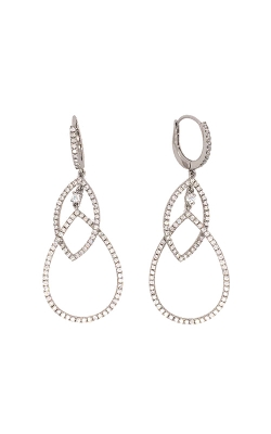 18k White Gold Diamond Chandelier Earrings C5981 product image