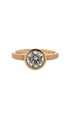 14k Yellow Gold Bezel-Set Engagement Ring C6624 product image