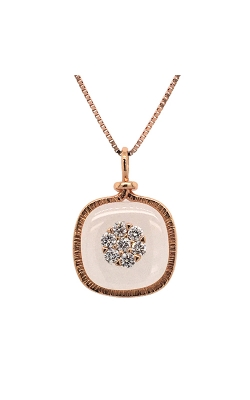 18k Rose Gold Crystal Pendant With Diamonds C7133 product image