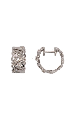 18k White Gold Woven Hoop Earrings product image