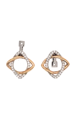 18k White And Rose Gold Convertible Earring Jackets G12117 product image