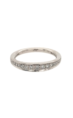 18k White Gold Wedding Band C8282 product image