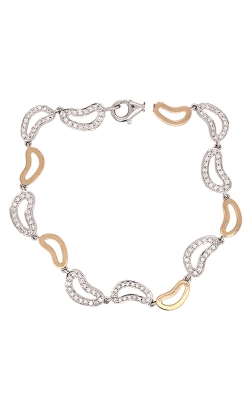 18k White And Rose Gold Diamonds Bracelet C8559 product image