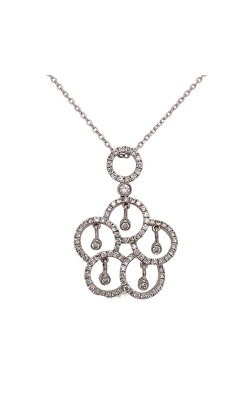 18k White Gold Flower Pendant With Diamonds G12087 product image