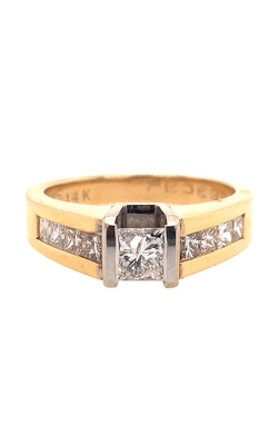 14k White and Yellow Gold Engagement Ring C8591 product image