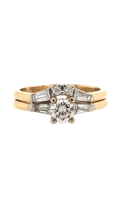14k White And Yellow Gold Wedding Set C8593 product image