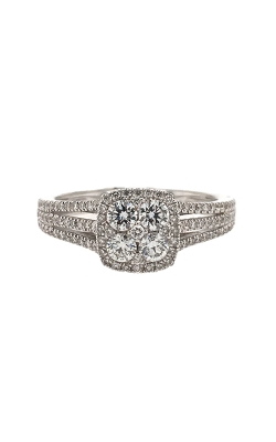 18k White Gold Diamond Engagement Ring C8605 product image