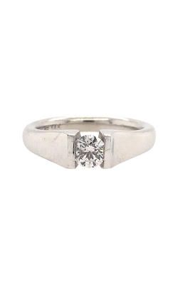 14k White Gold Tension-Set Diamond Engagement Ring C8612 product image