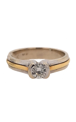 14k White and Yellow Gold Engagement Ring C8630 product image